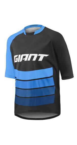 Giant Transfer Jersey korte mouwen Heren blauw/zwart